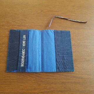 新品未使用 ブックカバー 布製 藍染