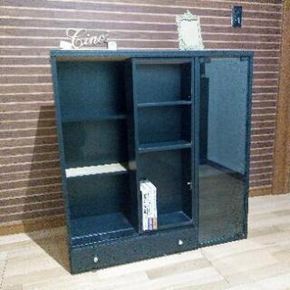 【ネット決済】収納棚(黒)本棚 ブラック