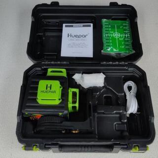 Huepar 3x360° フルライン グリーンレーザー墨出し器
