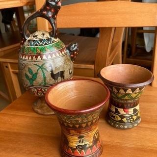 ペルー デカンタとグラス