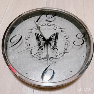 ★蝶々柄 壁掛け時計