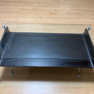 【ネット決済】【中古】曲げ木センターテーブル ガラステーブル