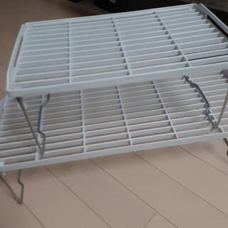 処分します❗折り畳み式収納棚大小セット