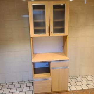 配送&設置サービスあり⭕食器棚 キッチンラック 幅80センチ 木目調
