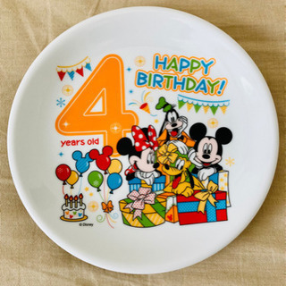 【お値下げ】ディズニー バースデープレート(4歳)