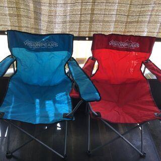 ビジョンピークス VISION PEAKS キャンプ椅子 [2台...