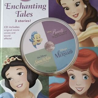 Disney英語絵本CD付き 美女と野獣、リトルマーメイド、白雪姫