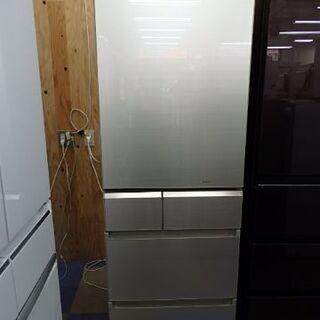 【配送設置無料エリア拡大】☆美品☆ パナソニック NR-E414GVL-W 冷蔵庫 GVタイプ スノーホワイト 5ドア 左開きタイプ 406L 2018年製の画像