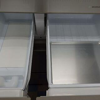 【配送設置無料エリア拡大】☆美品☆ パナソニック NR-E414GVL-W 冷蔵庫 GVタイプ スノーホワイト 5ドア 左開きタイプ 406L 2018年製 − 東京都