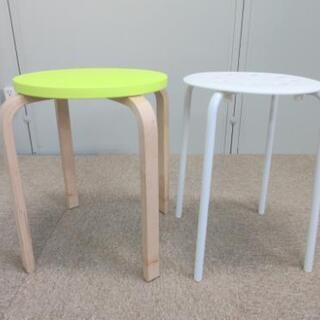 イケア/スツール2脚セット/丸椅子