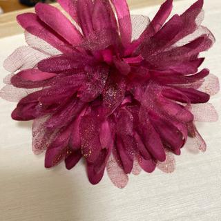 お花の髪飾り