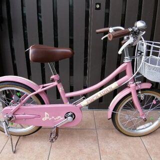 美品 子ども用自転車16インチ ピンク