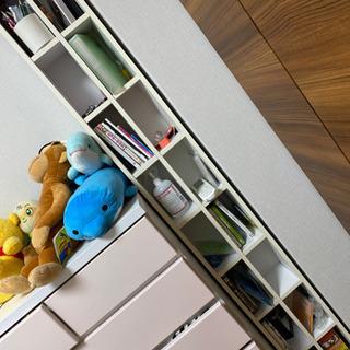 ラック(白)※本棚/CDやDVDの収納に最適