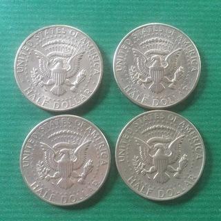 旧硬貨 アメリカハーフドル4枚