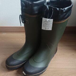長靴 メンズ 未使用 Mサイズ EEE 作業 庭 土 花