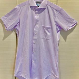ノーアイロン半袖ワイシャツ 速乾性 - 服/ファッション