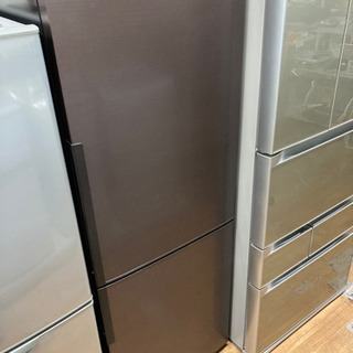シャープ 2ドア冷蔵庫 271L ブラウン 中古