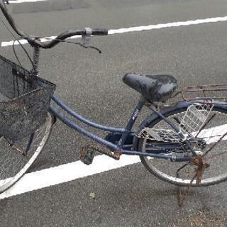 24型自転車 40年 30年前のママチャリ  錆少ない