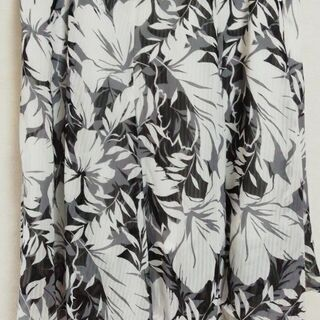 花柄 アシメスカート  W64