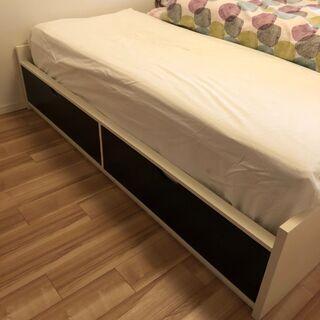 IKEA シングルベッド(収納付き)2台