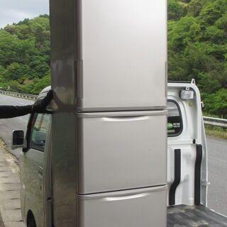 ☆発送不可☆中古 SHARP シャープ 350L 3ドア冷凍冷蔵...