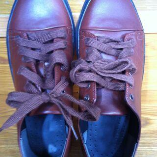 茶色い革靴27cm