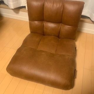 レザー調 座椅子