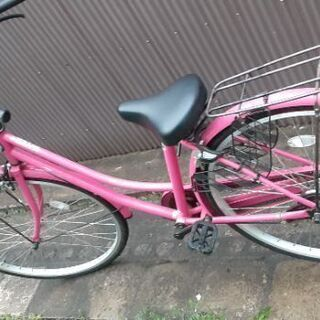 ☆【お引き取り終了】26インチのピンクの自転車?変速機無し!