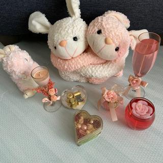 ピンクの雑貨 キャンドル