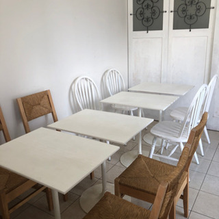 人工大理石のカフェテーブルセット