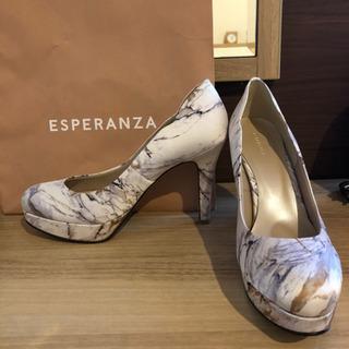 【ネット決済】ESPERANZA 24.5cm デザインカットパンプス