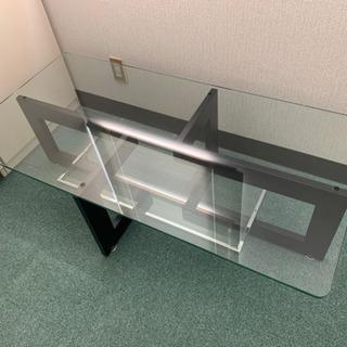 【ネット決済】ガラスリビングテーブル