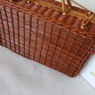 籐製ピクニックバスケットセット