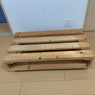 【ネット決済】キャスター付き木製テレビ台