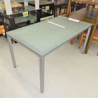 USED 天板ガラステーブル W1350