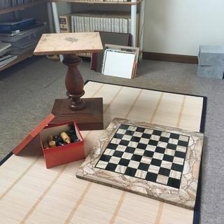 天然石チェス 碁盤駒セット - 売ります・あげます