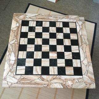 天然石チェス 碁盤駒セット - 家具