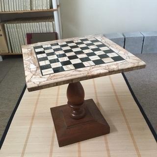 天然石チェス 碁盤駒セットの画像