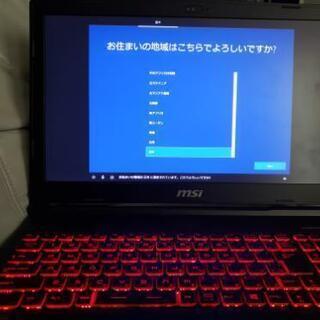【ネット決済・配送可】ゲーミングノートパソコン