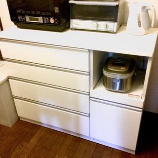 【引っ越し処分】値下できません 美品 ニトリ キッチンカウンター...