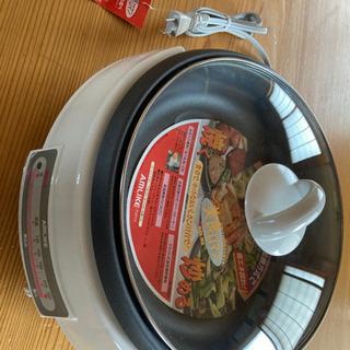 電気グリルなべ (ガラスふた付き)美食ロマン アムライク