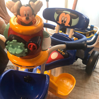 【ネット決済】【美品】ミッキーマウス三輪車