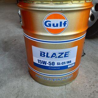 【値下げ】Gulf ブレイズ BLAZE エンジンオイル 15W...