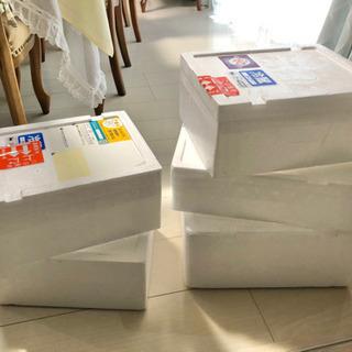 【無料】発泡スチロールの箱5つセット