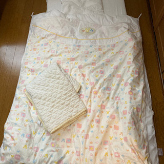 【差し上げます】日本製 ベビー用布団一式&授乳クッション