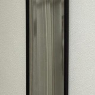 ドア掛けミラー 高さ120cm(ダークブラウン)