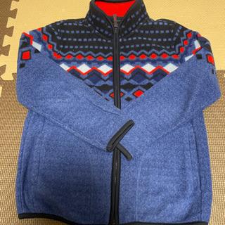【古着】子供服 ユニクロ フルジップフリースジャケットブルー 1...