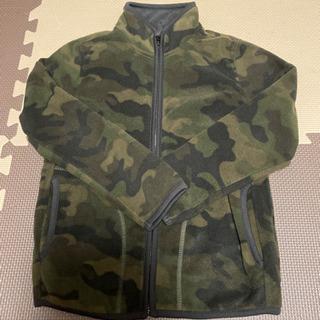 【古着】子供服 ユニクロ フルジップフリースジャケット 迷彩柄 130