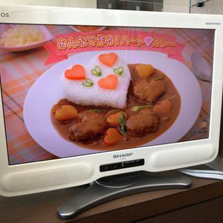 2010年製シャープ20型液晶テレビ