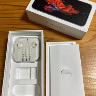 iPhone純正イヤホン①(未使用、iPhone6Sの箱付き 黒...